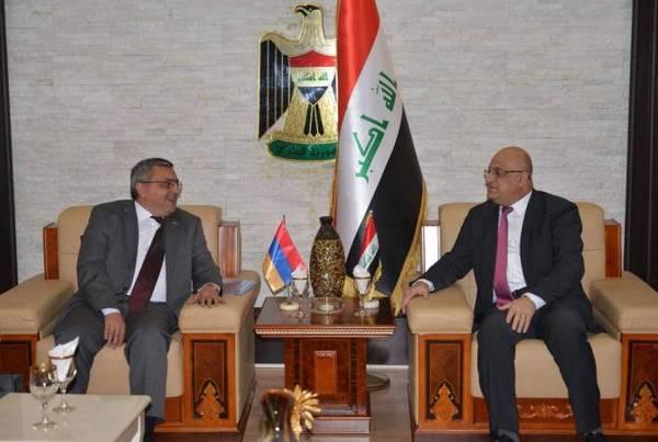 Armenian Ambassador, Iraqi trade minister discuss